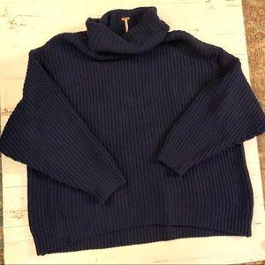 Free people  Swim too deep chunky knit rib sweater